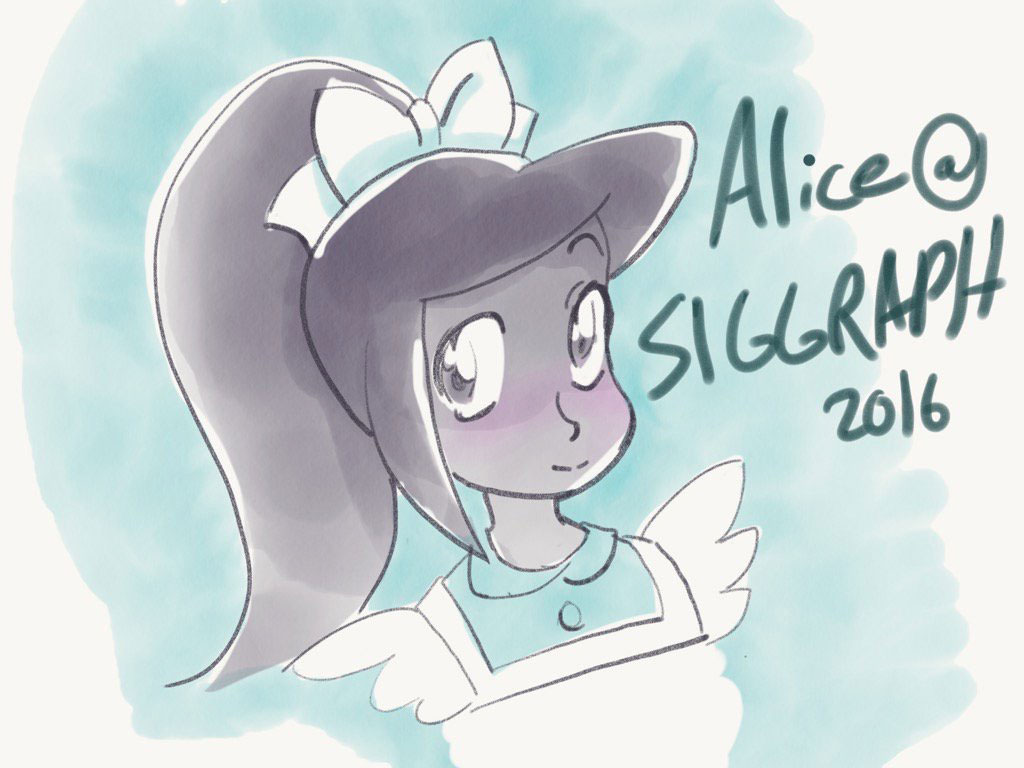 Alice (in Wonderland) at SIGGRAPH.
